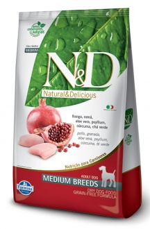Natural&Delicious Pollo y granada adult medium